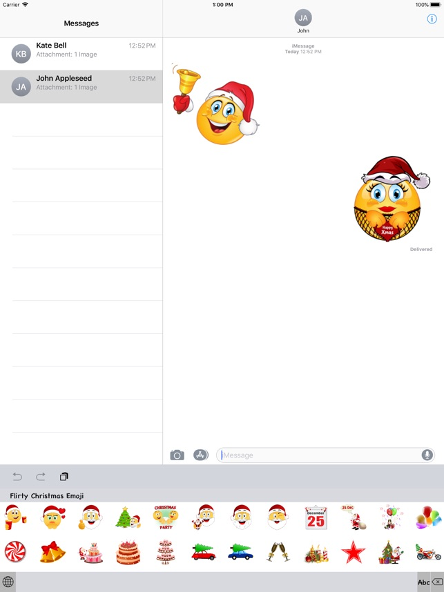 flirty christmas emoji on the app store