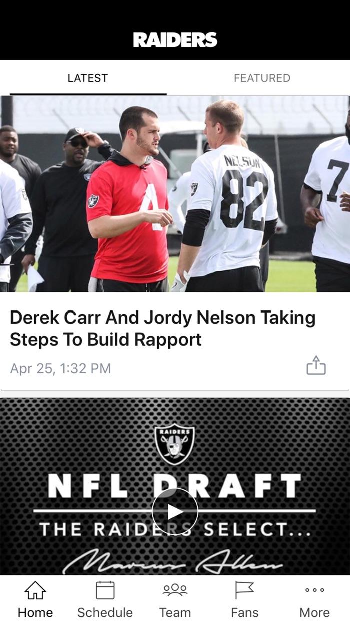Raiders App Screenshot