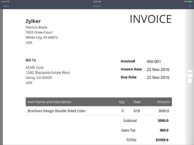 Invoice Generator Zoho On The App Store - Free software for billing and invoicing apple store online
