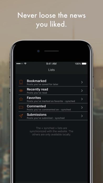 HNBuddy - Hackernews client screenshot