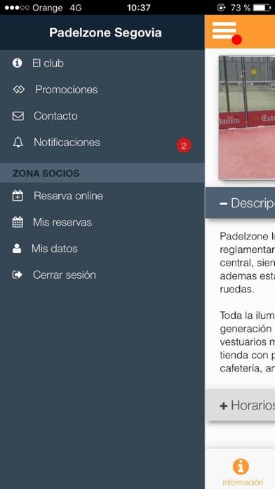 Padelzone Segovia screenshot 3
