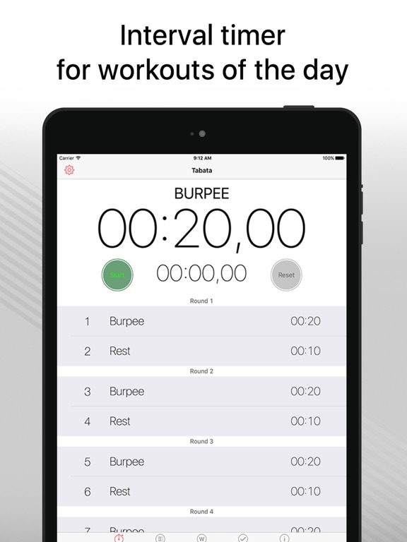 WOD Timer pro - training hiit Screenshots