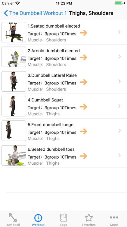 The Dumbbell Workout screenshot-3