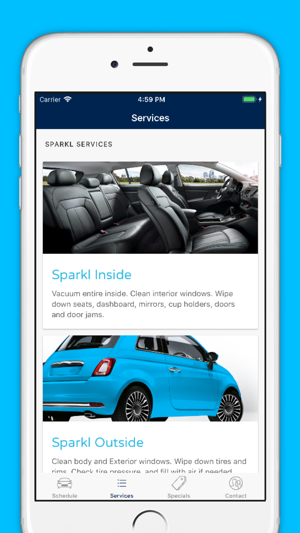 sparkl clean car anywhere on the app store rh itunes apple com
