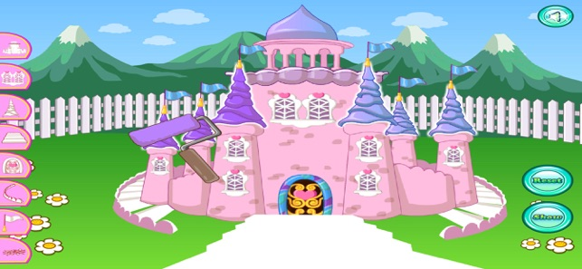 Glitter castle with baby pony 4+
