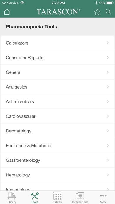Tarascon Pharmacopoeia review screenshots