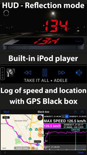 Speedometer 55 GPS Speed & HUD Screenshot