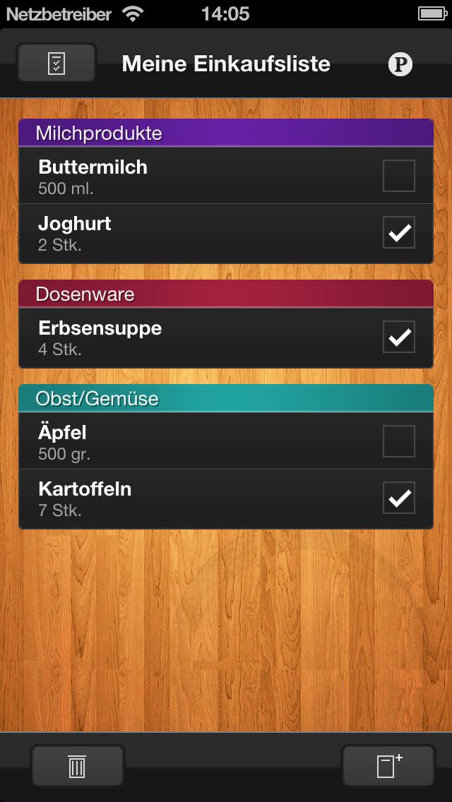 ShopList - EinkaufslisteScreenshot von 1