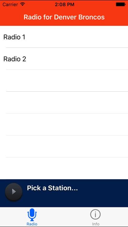 Radio for Denver Broncos
