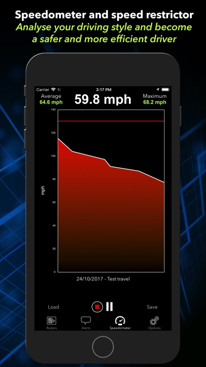 Radarbot Pro SpeedCam Detector screenshot-3