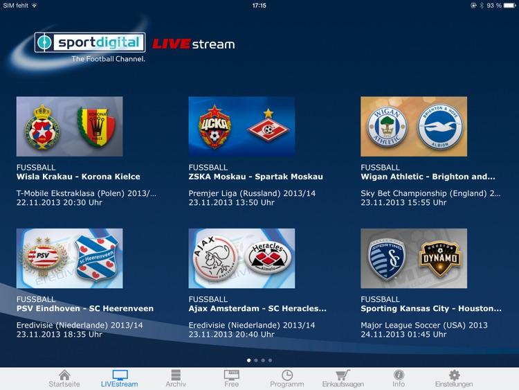 sportdigital – LIVE Fußball