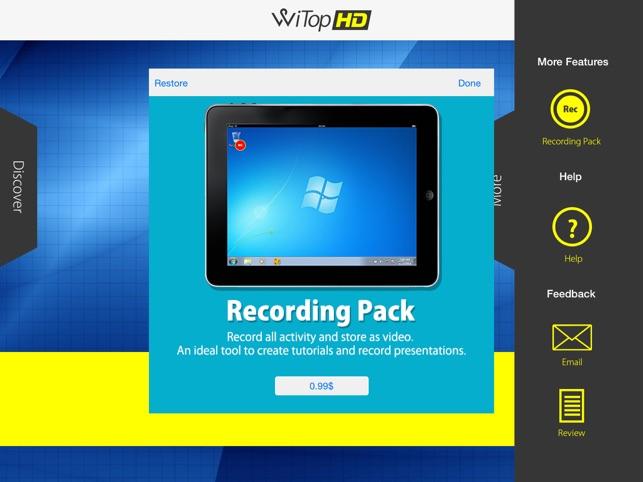 WiTop HD - High Speed Remote Desktop Screenshot