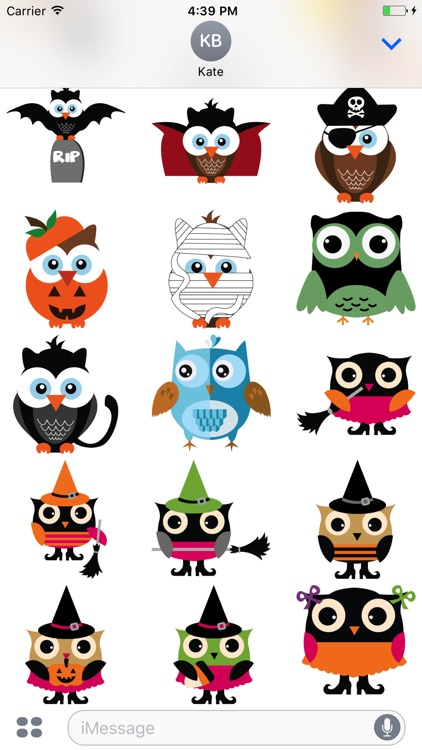Cute Owl Sticker 2017