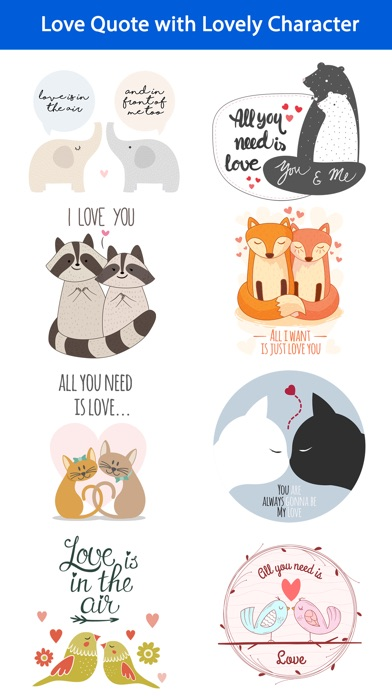 Love Quotes With Lovely Romantic Animal Couple App Price Drops