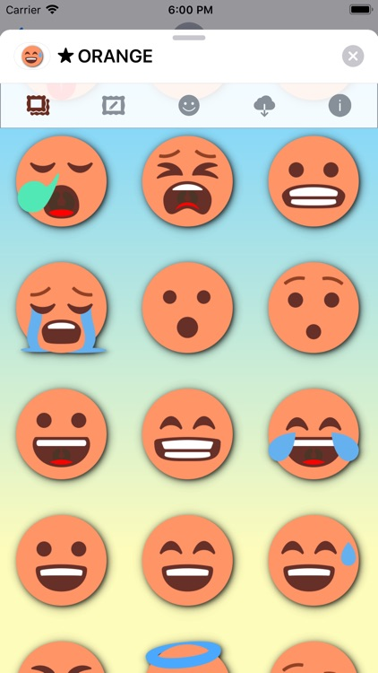 ORANGE Emoji • Stickers screenshot-3