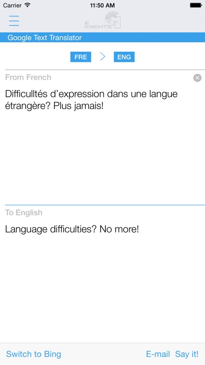 Dictionary French English