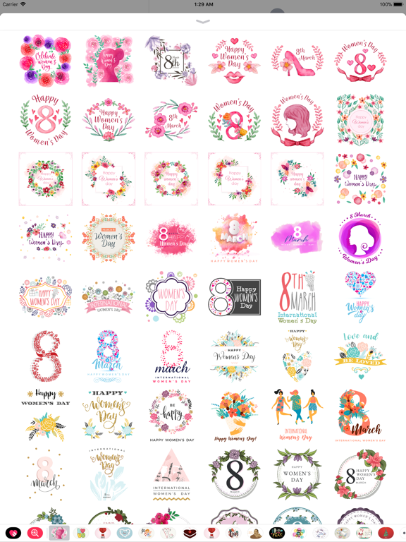 Happy Women's Day Stickers Set screenshot 8