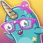 Unicorn shark party discoteca icon