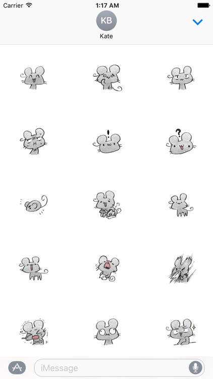 Doodle Mouse Stickers Pack