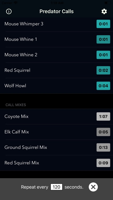 Screenshot for Coyote Calls & Predator Sounds in United States App Store