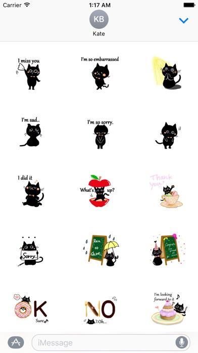 Baby Black Cat Sticker screenshot two