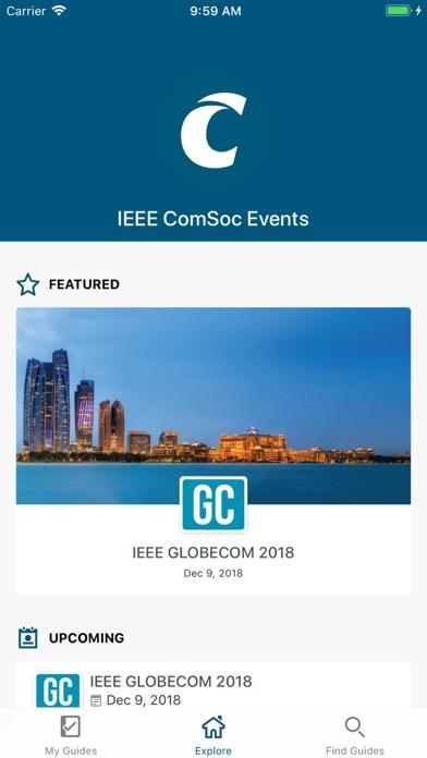 IEEE ComSoc Events screenshot two