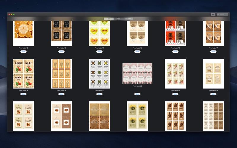 DesiGN Labels Templates Screenshot
