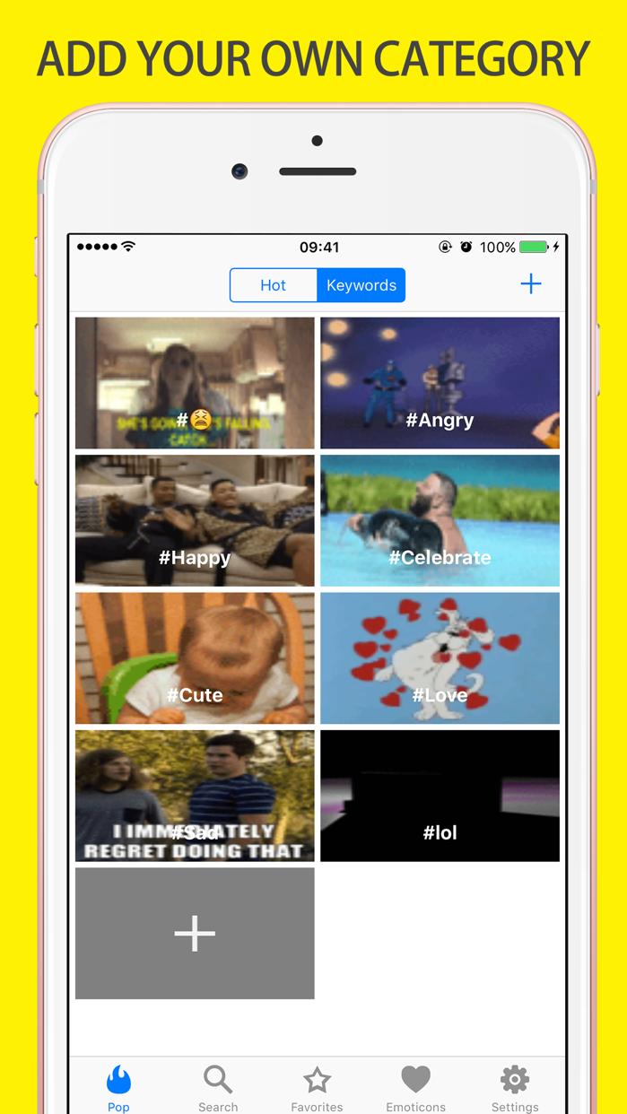 Gif Keyboard Emoji Giphy Maker Screenshot
