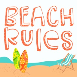 Beach Rules Summer Stickers