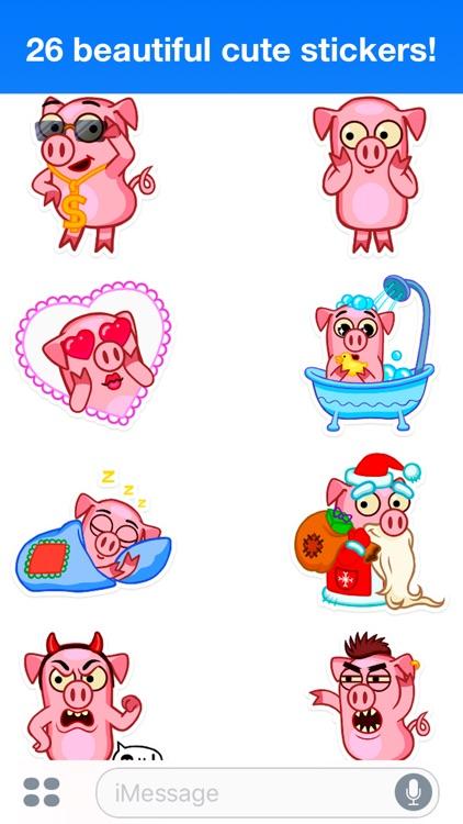 Pig Willie - Cute stickers screenshot-3
