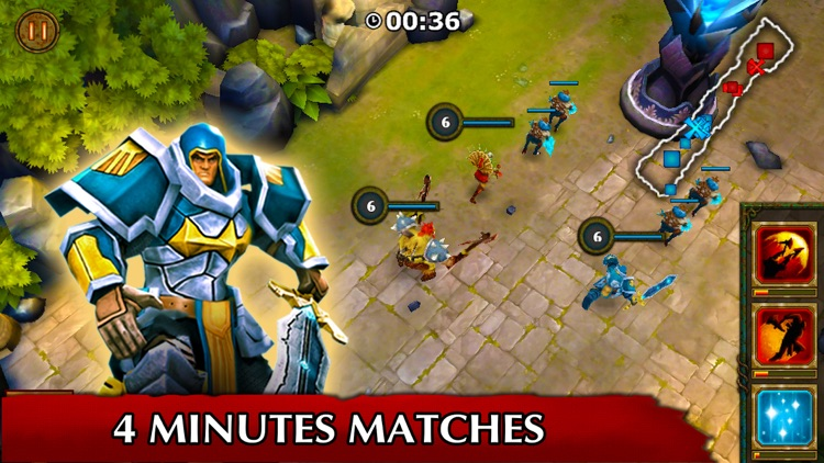 Legendary Heroes offline MOBA screenshot-2