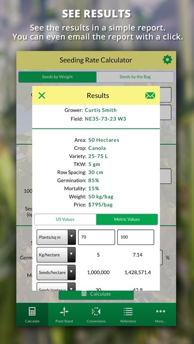 Agro Seeding Rate Calculator screenshot two