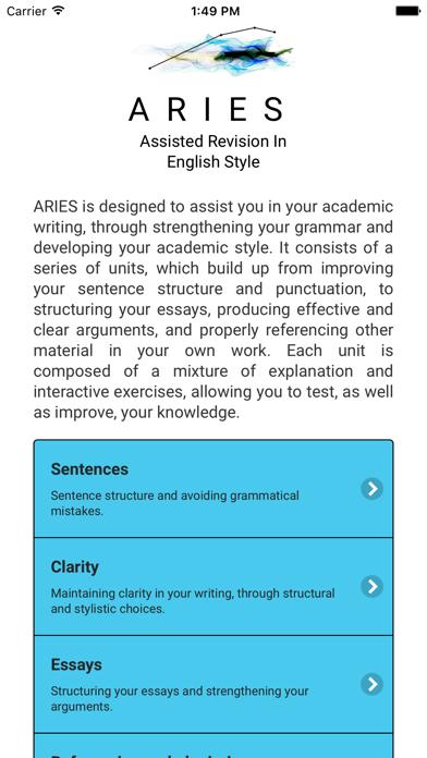 ARIES: English Academic Style