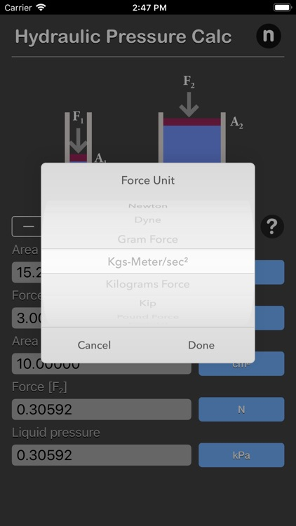 Hydraulic Pressure Calculator screenshot-3