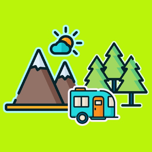 Outdoor Sports Camp Stickers