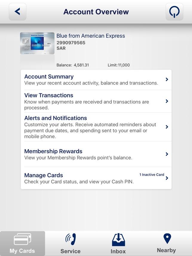 Amex Saudi Arabia App Ipad On The App Store