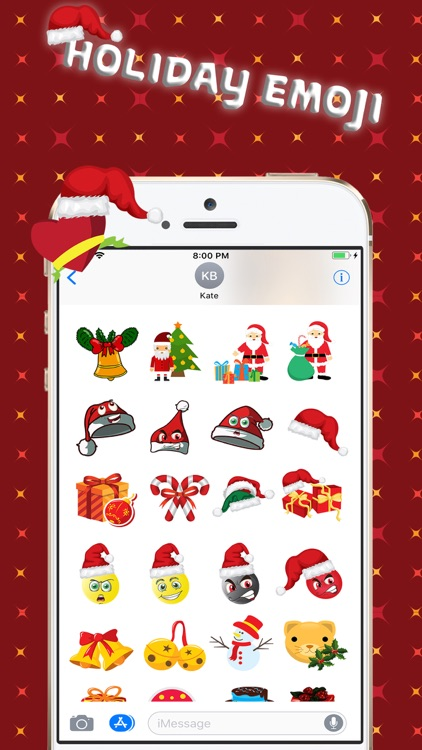 Christmas Holiday 3D Emoji screenshot-2