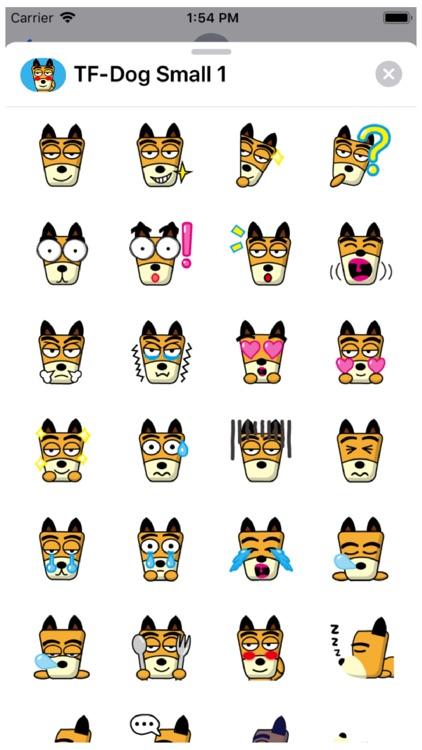 TF-Dog Small 1 Stickers