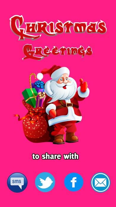 Christmas Greetings SMS screenshot 1