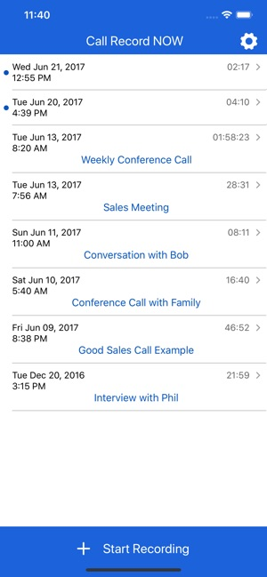 Call Record NOW on the App Store