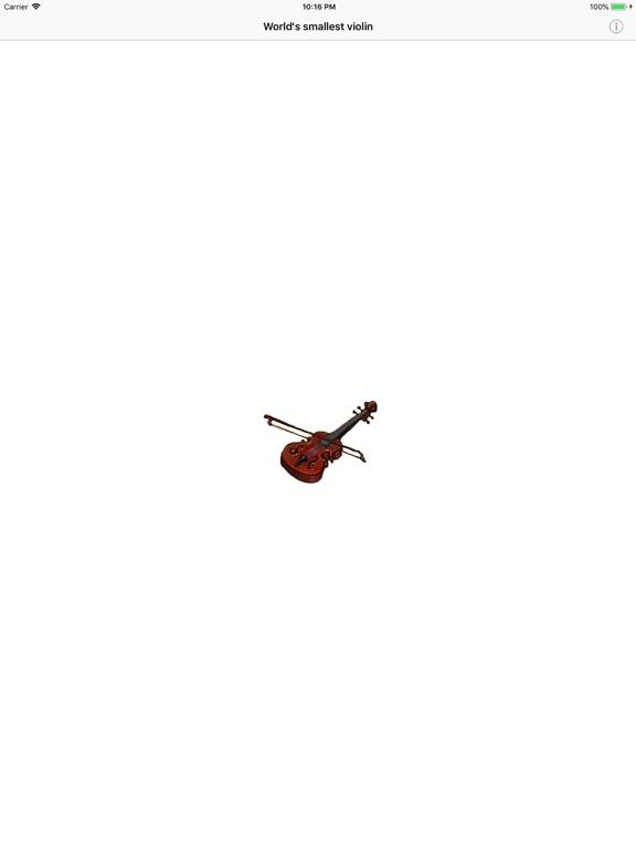 World's smallest violin ™ screenshot 4