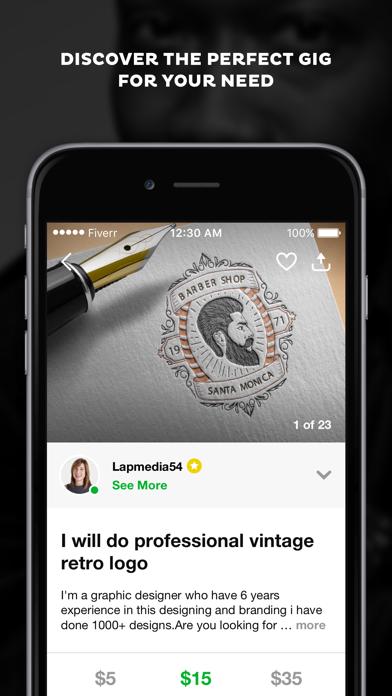 Screenshot 2 for Fiverr's iPhone app'