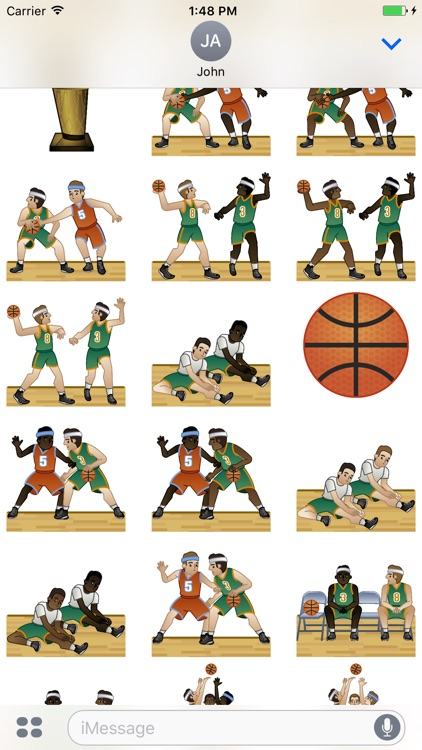 Basketball Emoji screenshot-4