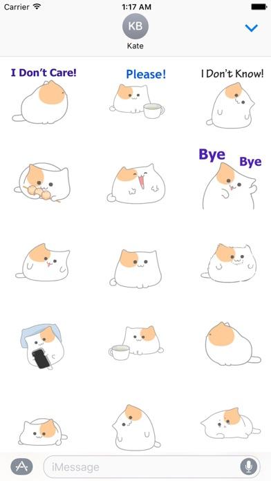 Animated So Cute Cat Sticker screenshot 2