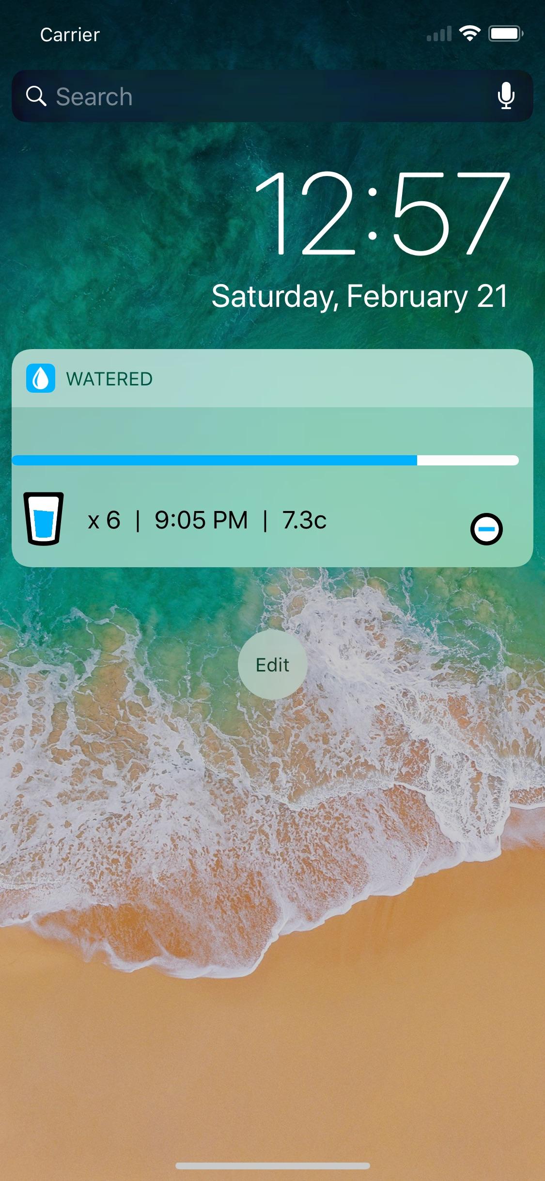 Screenshot do app Watered