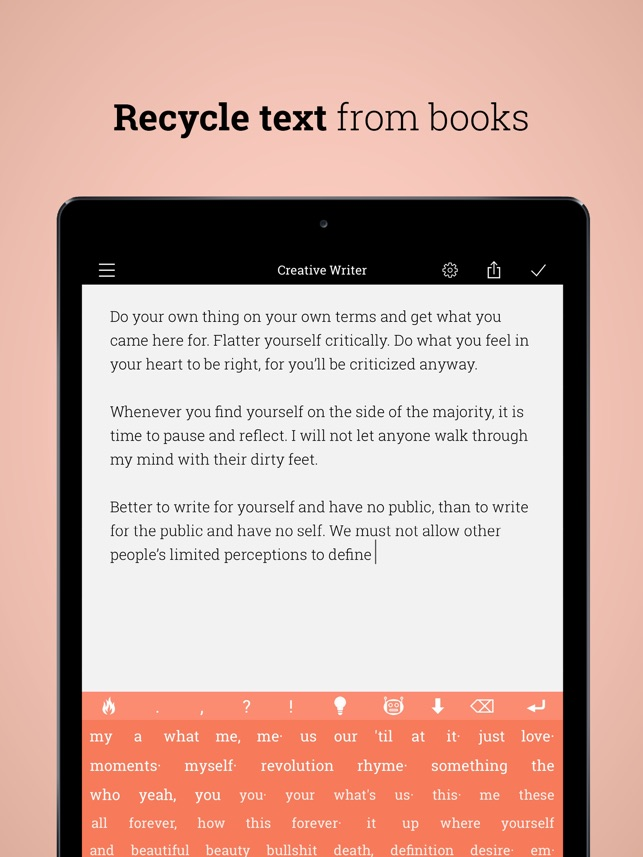 Creative Writer - words ∞ flow on the App Store