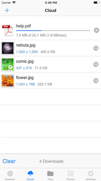 Browser and iFile Manager
