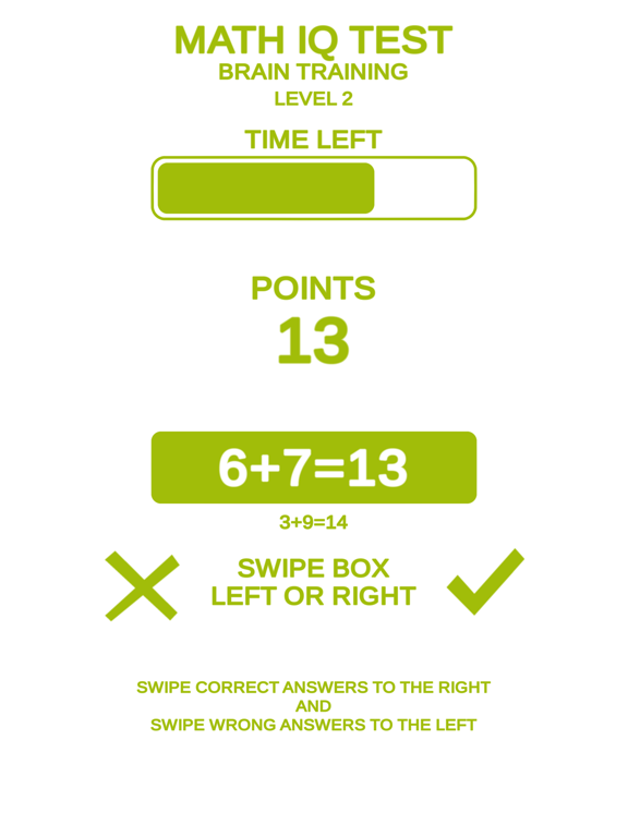 Math IQ Test + Brain Training screenshot 8