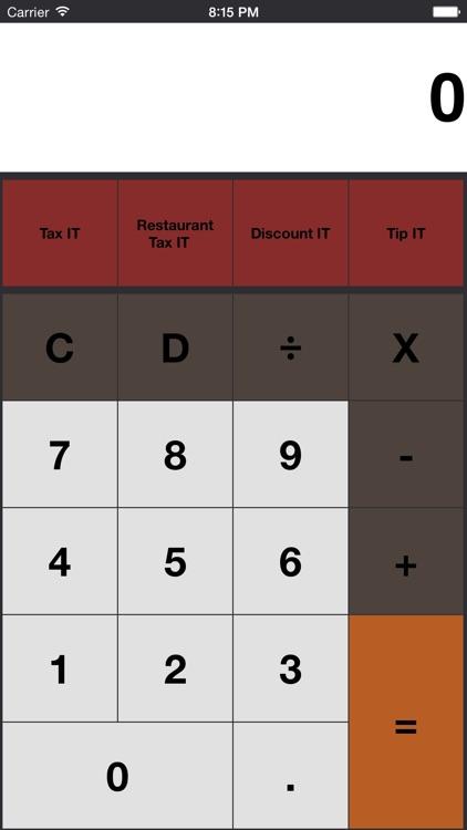 Tax It - Sales Tax Calculator