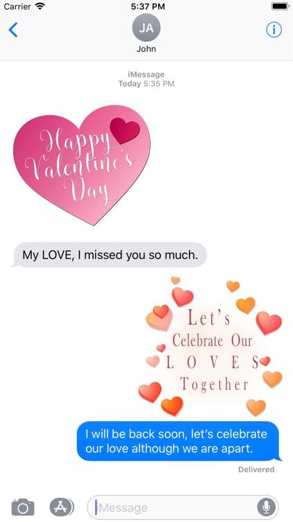 Romantic Valentine's Stickers screenshot-3